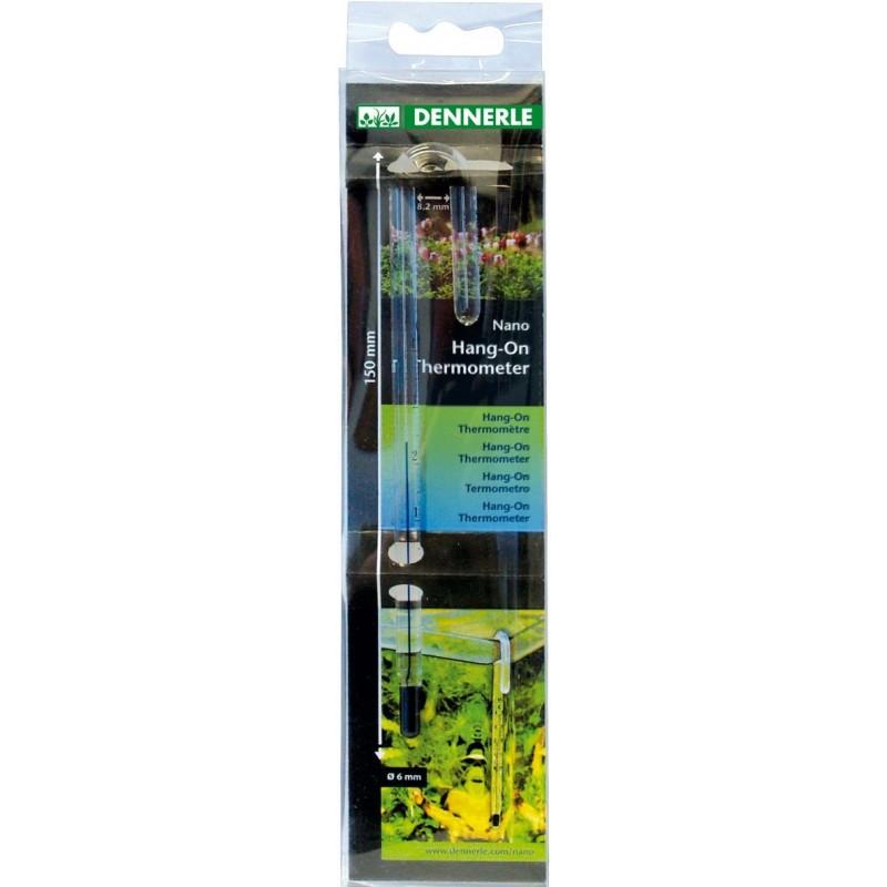 Dennerle 5657 Nano Hang-ON Thermometer Termometro Per Vasche Con Vetri di Spessore 8mm