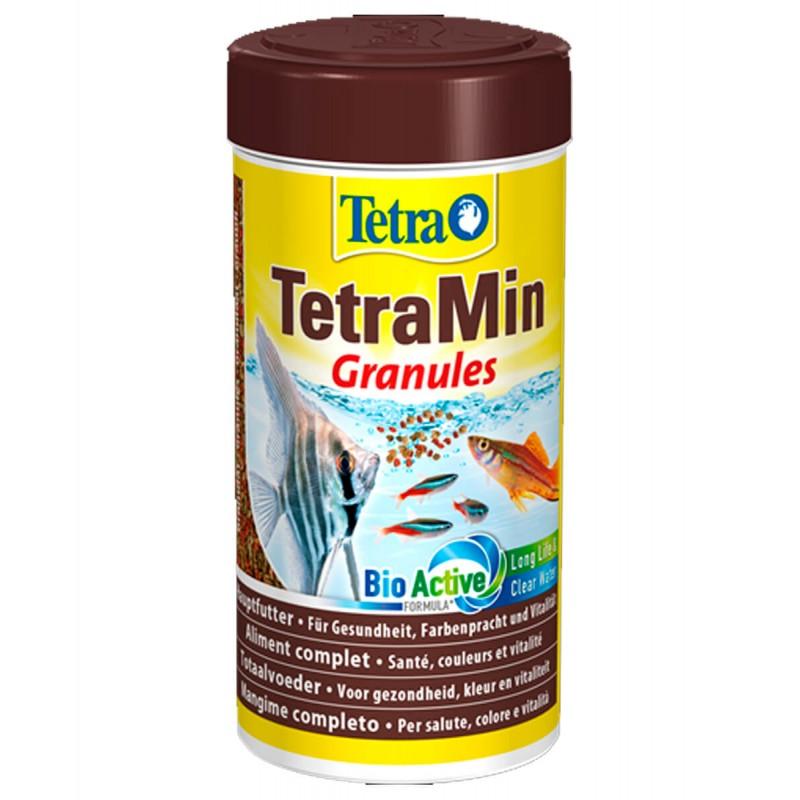 Tetra TetraMin Granules 250 ml Mangime in Granuli per pesci d'acquario formula acqua limpida