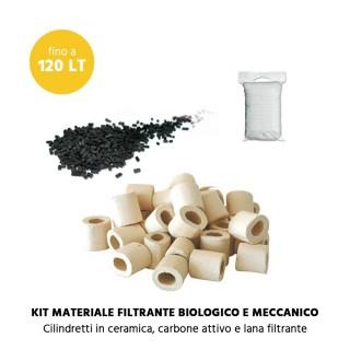 MTB Kit Materiale Filtrante biologico e meccanico per acquari fino a 120 litri MILO 80 e 100