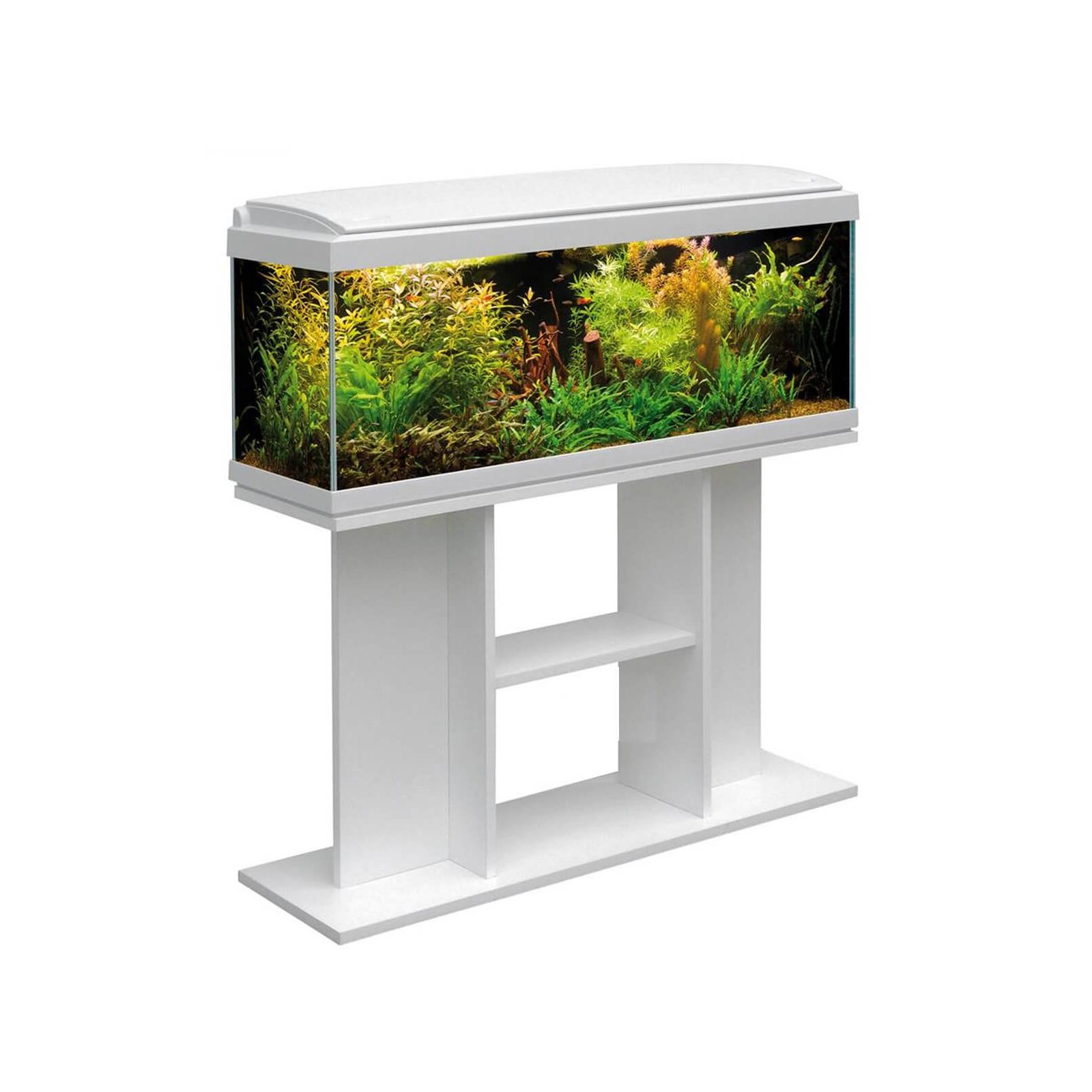 MTB Acquari Milo 100 Acquario con tavolino accessoriato 117 L Bianco