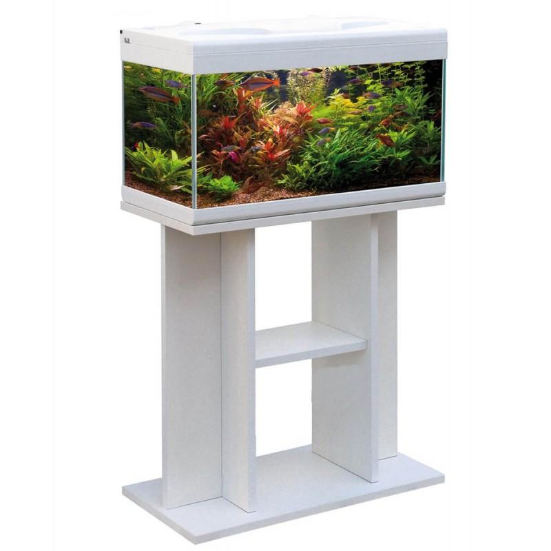 MTB Acquari Aloha 60 LED acquario con tavolino accessoriato 57 lt Bianco