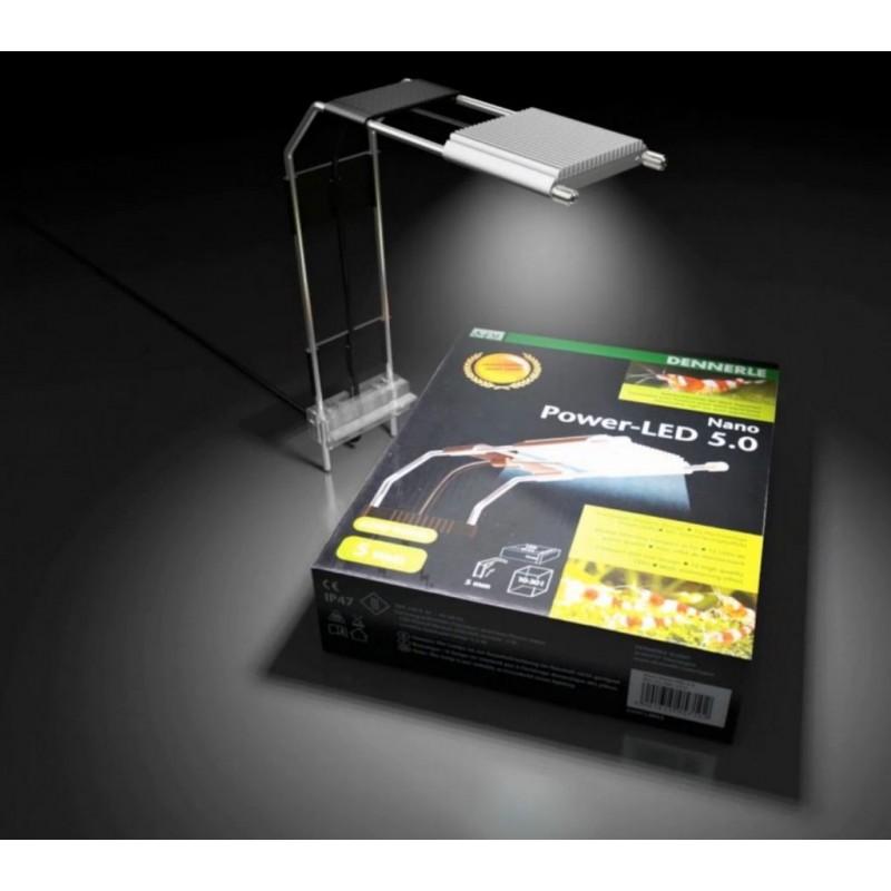 Dennerle 5710 Nano Power LED 5 w Plafoniera Led per Nano acquari